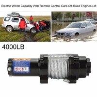 Прочный Электрический лебедки нагрузки Ёмкость до 4000lb с дистанционным Управление автомобили внедорожных для Atv двигателей подъемная лебед
