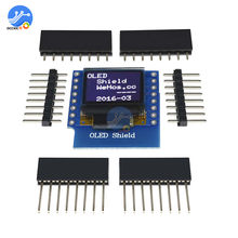 "0.66 ""inch 64X48 IIC I2C OLED LED LCD Dispaly Screen Module Shield Compatibel voor Arduino WEMOS D1 MINI ESP32(China)"