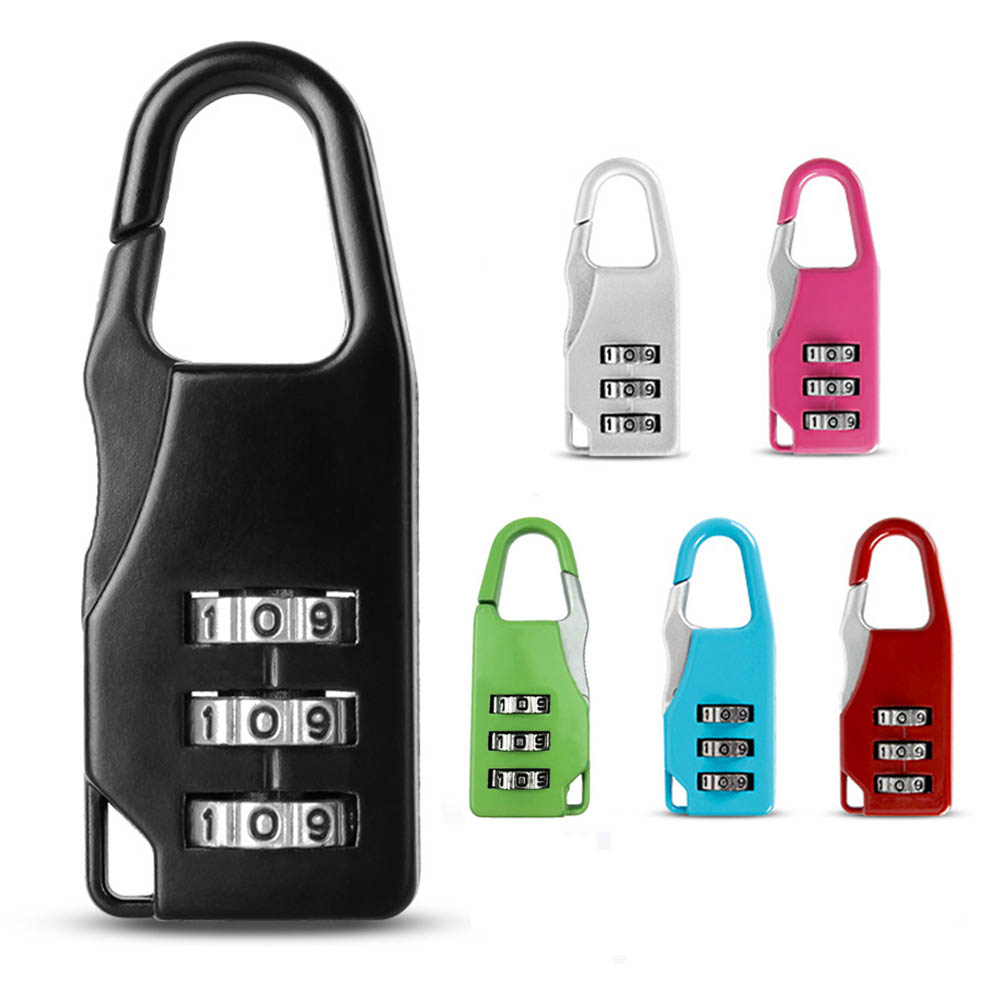 3 Dial Digit Number Code Password Combination Padlock Suitcase Luggage Security Travel Safe Lock Bag Luggage Accessories