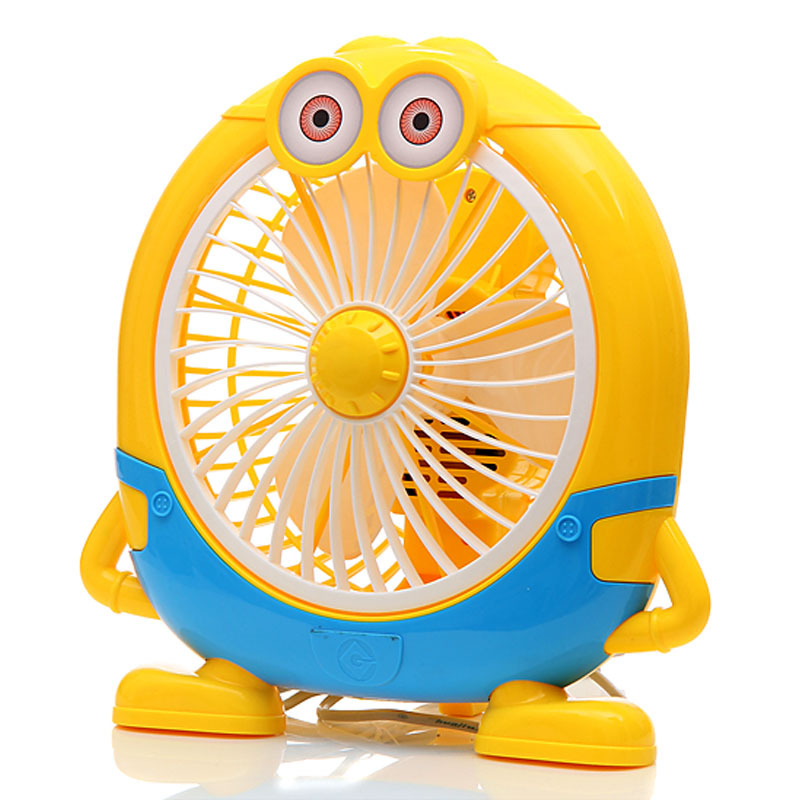 New Arrival Cute Minions Desktop Fan For Home Office 20W Power saving Electric Fan Ventilador цены