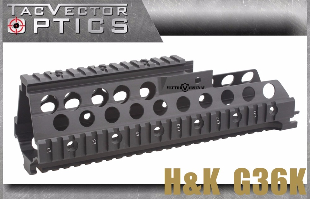 Vector Optics H&K HK G36K Handguard Quad Picatinny Rail System Mount Low Profile vector optics galil golani tactical handguard quad rail picatinny scope mount system fits century full metal new black