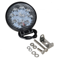 RACBOX 4 Inch 27W Round LED Work Light 6000K 12V 24V For Motorcycle Boat Car Tractor