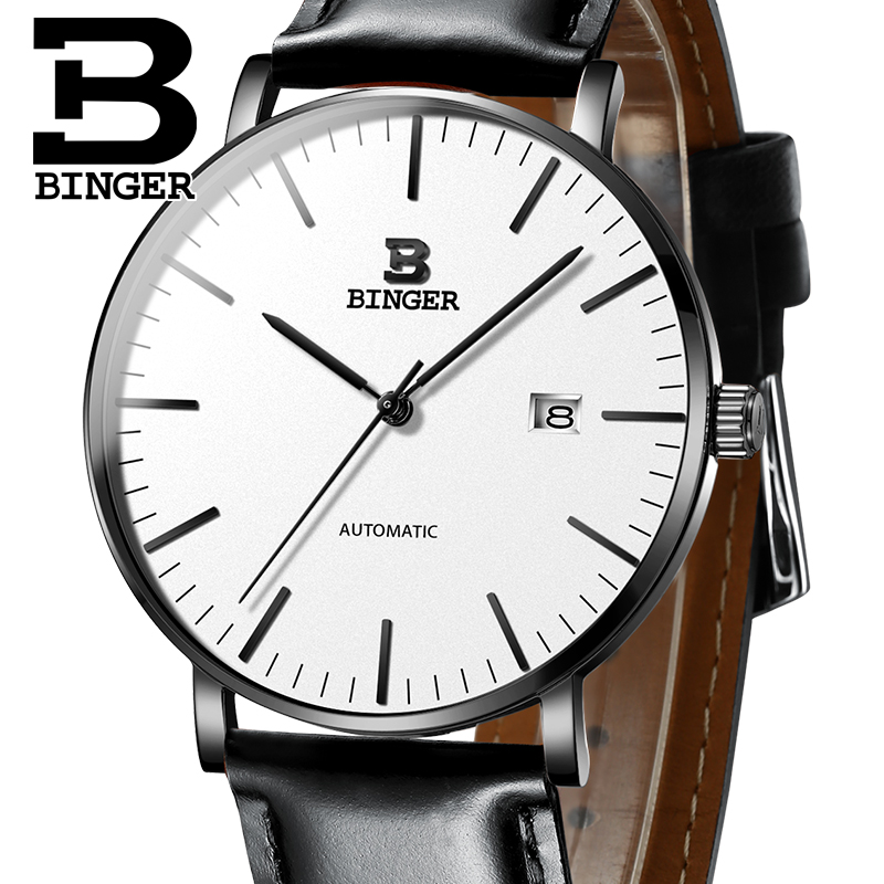 Switzerland BINGER Mens Watches Luxury Brand automatic mechanical Men Watch Sapphire Male Japan Movement reloj hombre B-5081M-8 switzerland binger watch men 2017 luxury brand automatic mechanical men s watches sapphire wristwatch male reloj hombre b1176g 6