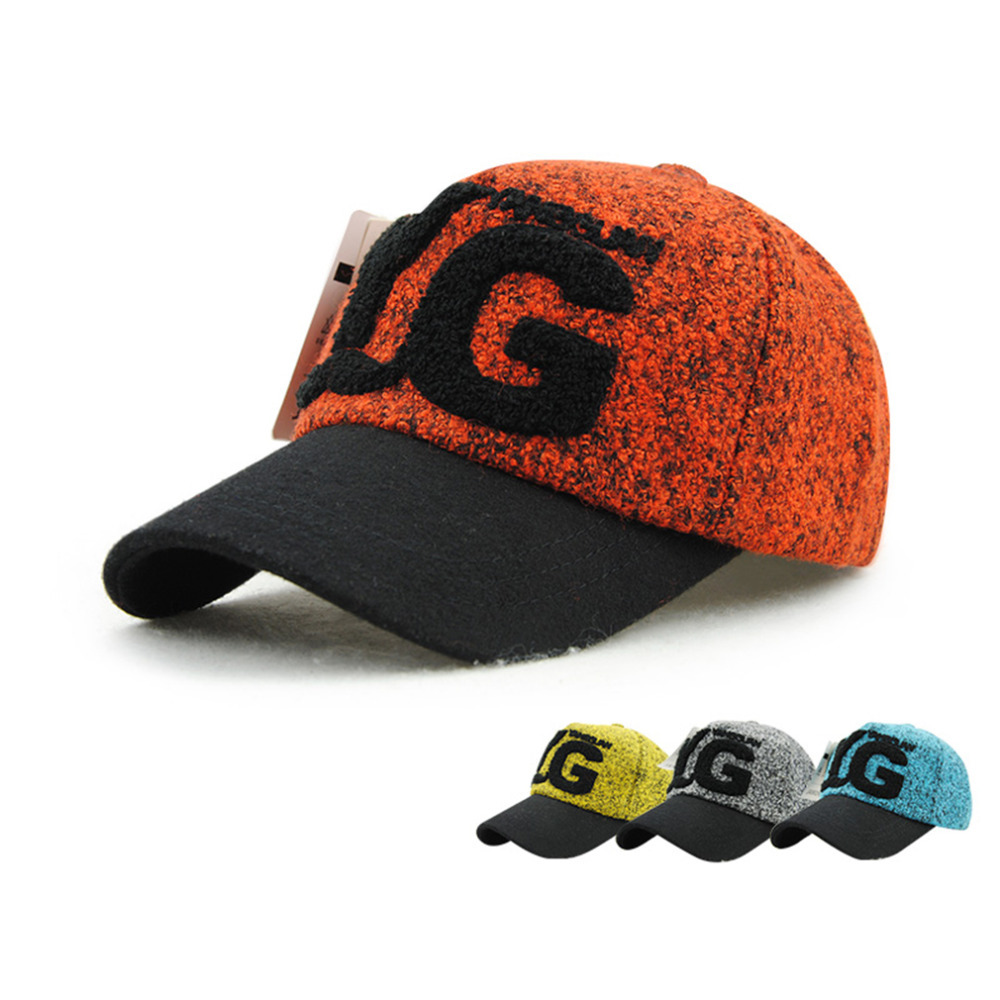 Fashion Stylish Cool Womens Plush Letters Pattern Leisure Outdoor Playing Hat Baseball Cap 9493 Sale
