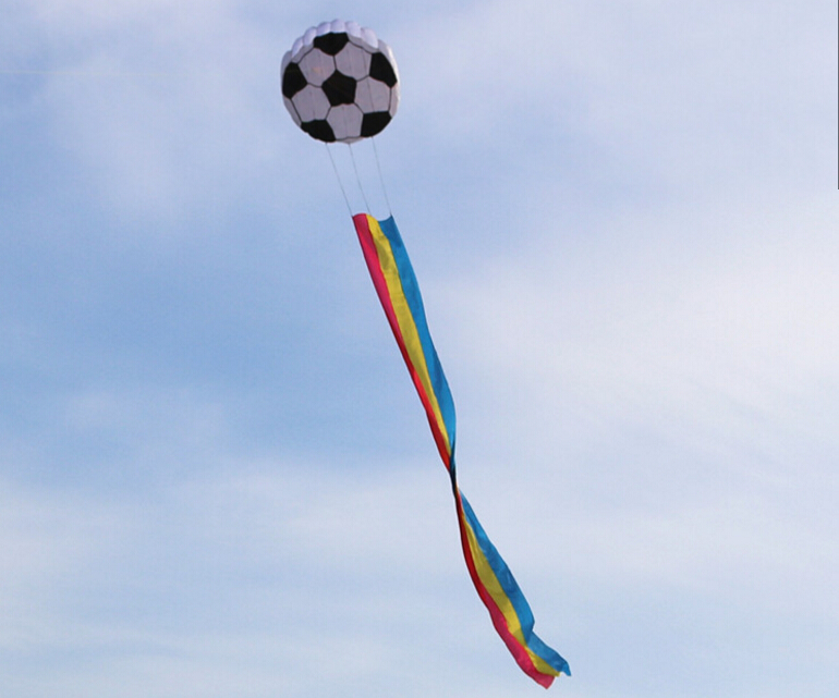 High quality football soft kite nylon fabric kite player outdoor toys , not included the Kite line