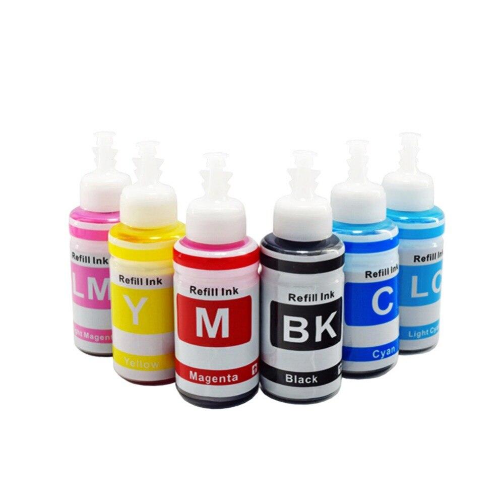 6 Pcs X 70 Ml Kit De Recarga Tinta Da Impressora Para Epson L120 L100 L132 L222 L210 L110 L810 L300 L312 L850 L1800