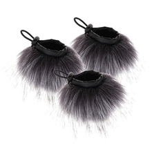 3 Pieces Professional Outdoor Mic Furry Wind Cover Windscreen Windshield for Zoom Recorder