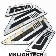 free delivery Gratis frete Original TMAX 530  prata de aluminio CNC modificacao pedal placa