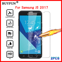 Для J5 Экран протектор Tremp закаленное Стекло пленка для Samsung Galaxy J5 SM-J530F Плёнки чехол 2 шт. защитное стекло