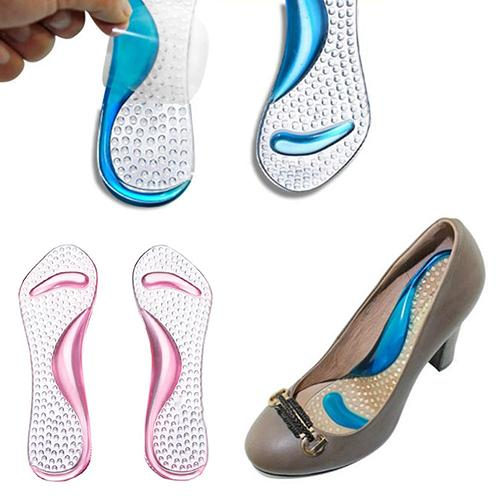 Non-Slip Sandals High Heel Arch Cushion Support Silicone Gel Pads Shoes Soft Insole Comfort Soft High Heel Shoe Pad hotsale