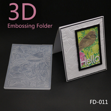 AZSG 2018 New Arrival Cute Brid Leaves 3D Embossing Plates Design DIY Paper Cutting Dies Scrapbooking Plastic Folder
