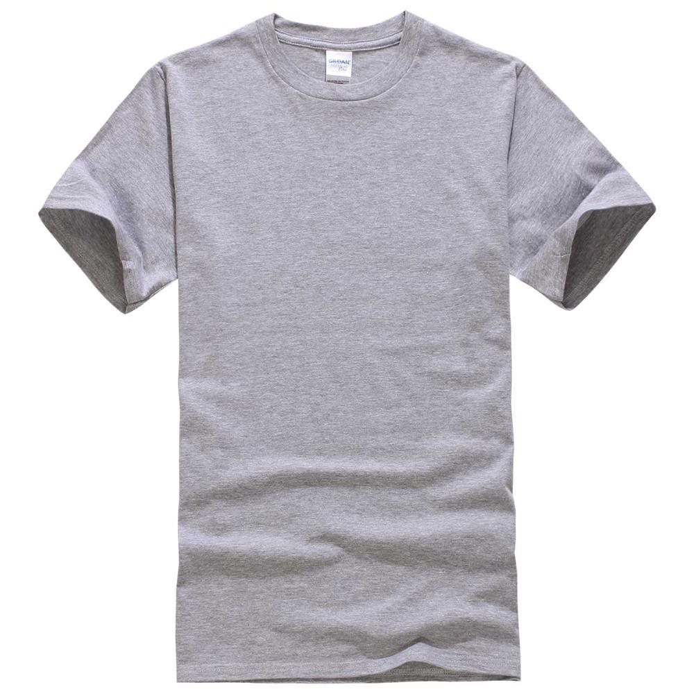 Летние классические короткий рукав круглым вырезом Цвет Свободные Базовая футболка Повседневное Фитнес Для мужчин дна футболки shirs