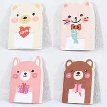 2pcs/lot Cute Mini Cartoon Little Bear Paper Notebook Journal Diary Book Notepad paper high leather journal notebook mini stitched 80 x 105mm