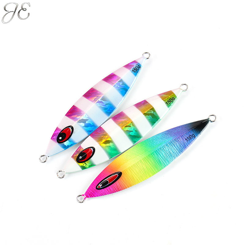 150g 200g 250g JE Lead Metal Sinker Jigging Lure Slow Pitch Sinking Jig Deep Sea Artificial Fishing Bait Saltwater Ocean Angling never watercolor collection sticky notes set memo pad set post it diary stickers fashion stationery office and school supplies