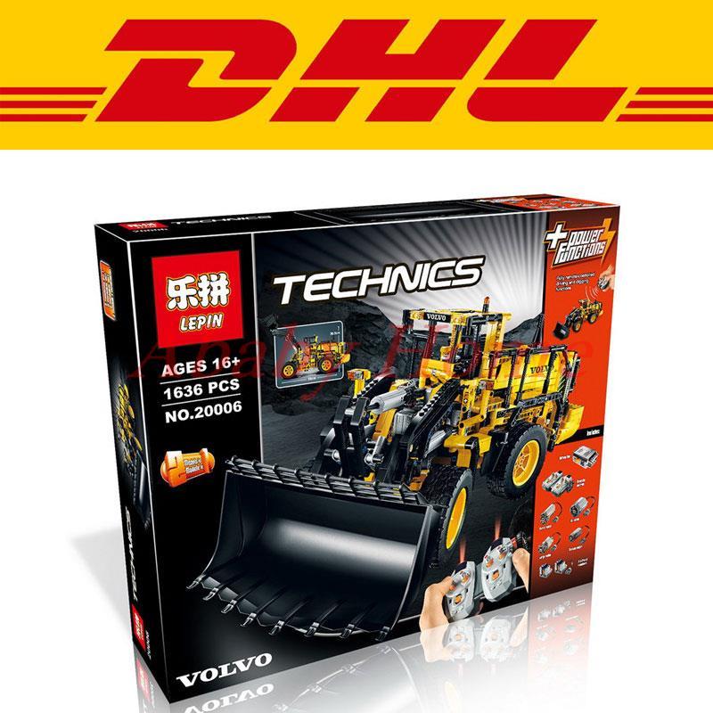 ФОТО new lepin 20006 technic series 1636pcs volvo l350f wheel loader model building kit minifigure blocks bricks compatible toy 42030
