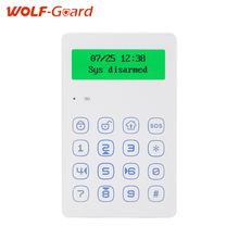 Wolf Guard voice Prompt 433mhz wireless keypad GSM Alarm system android IOS APP control with anti-tamper function wired siren