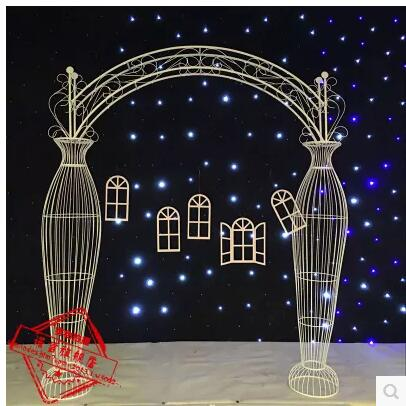 The new wedding prop vase arch European style silk flower round archway in Party DIY Decorations from Home Garden