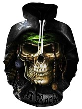 2019 Harajuku Dice Skull Poker 3D Print Hoodies Women Men Pocket Sweatshirts Outfits Tracksuits Pullovers Tops
