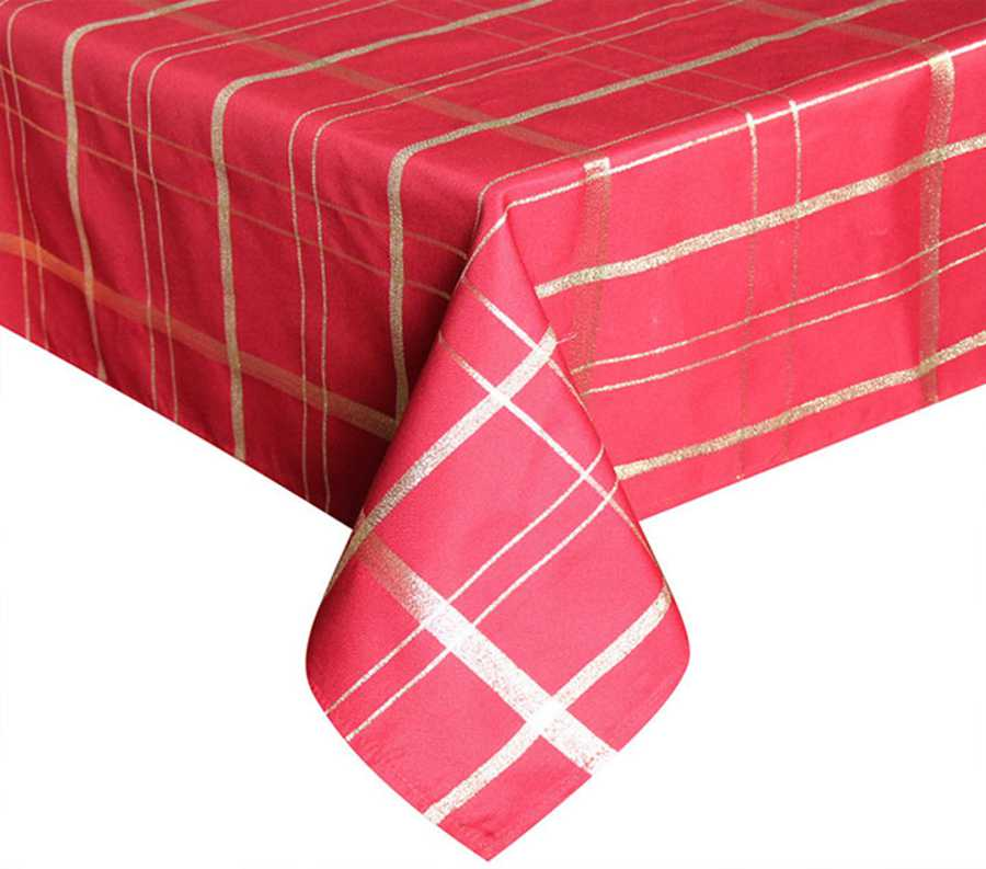UFRIDAY Red Gold Plaid Pattern Tablecloth Rectangle Table Luxury Royal Polyester Table Cover Oil Cloth Waterproof Table Cloth  sc 1 st  shopping with free shipping 2019 & UFRIDAY Red Gold Plaid Tablecloth Rectangle Christmas Tablecloth ...
