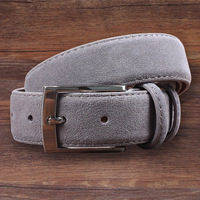 Hongmioo Genuine Leather Suede Men S Belts Cowhide Belt Luxury Brand Pin Buckle Wholesale And Retail