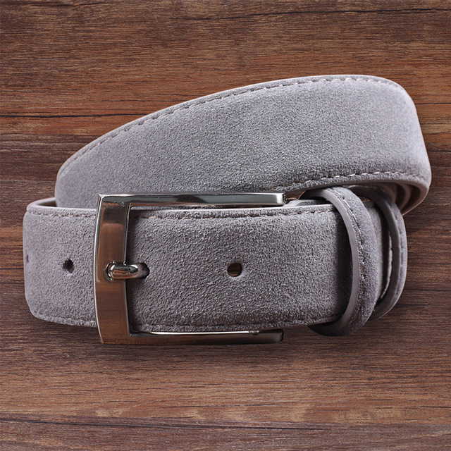 d48ee65fe8ee Hongmioo véritable daim en cuir hommes ceintures de ceinture de peau de  vache de luxe marque