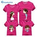 Grandwish nuevo papá mamá niños personaje de dibujos animados de verano tees trajes a juego de la familia de la familia t-shirt camisas de 24 m-13 t s-5xl, SC131