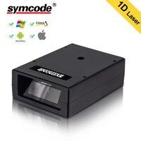 Varredor automático do código de barras  laser de symcode usb prendido leitor portátil portátil 1d automático do código de barras da caixa