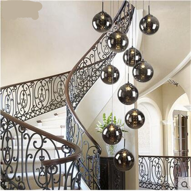 ФОТО Modern Fashion Plated Crystal Glass Ball Dia 15cm Led G4 Pendant Light for Living Room Dining Entrance Stair 1 3 4 6 Heads
