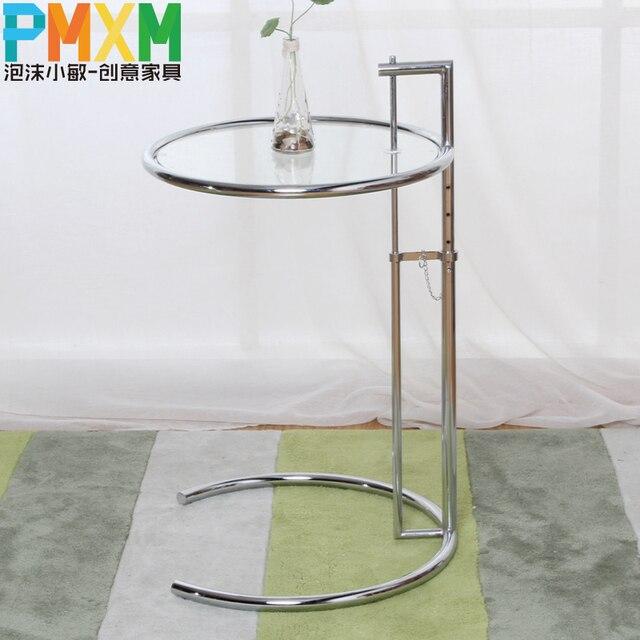 Mode créative simple , décontracté table basse en verre circulaire ...
