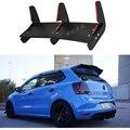 Для POLO GTI ABS задний бампер диффузор защитные бамперы для 2015-2016 Volkswagen POLO Gti набор бампер задний спойлер