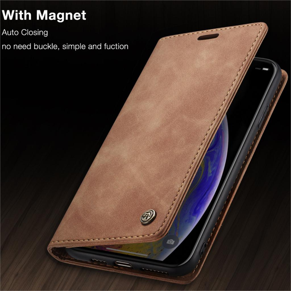 Magnetic Wallet Case For iPhone 7 8 6s 6 Plus 5 5s SE Retro Leather Case Credit Card Flip Cover Phone Case For iPhone X XS Max XR 11 Pro Max