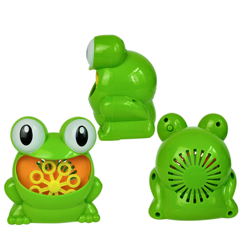 Durable Automatic Frog Bubbles Machine Bubble Maker Kids Toys for Children Outdoor Games(Soap Liquid and Batteries Not Included)