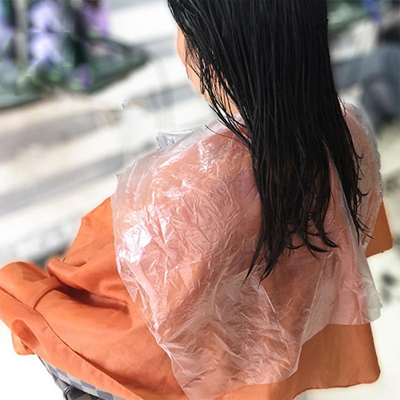 200pcs Health Care Barber Wai Cloth Perm Hair Salon Haircut Wai Hairdressing Cape Disposable Cloth Shawl Disposable PE Apron