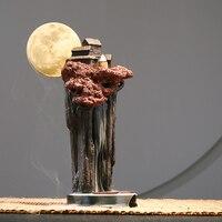 A PCS Back incense censer ornaments sandalwood home mountain water indoor for Buddha tea large incense incense burner AP5291054