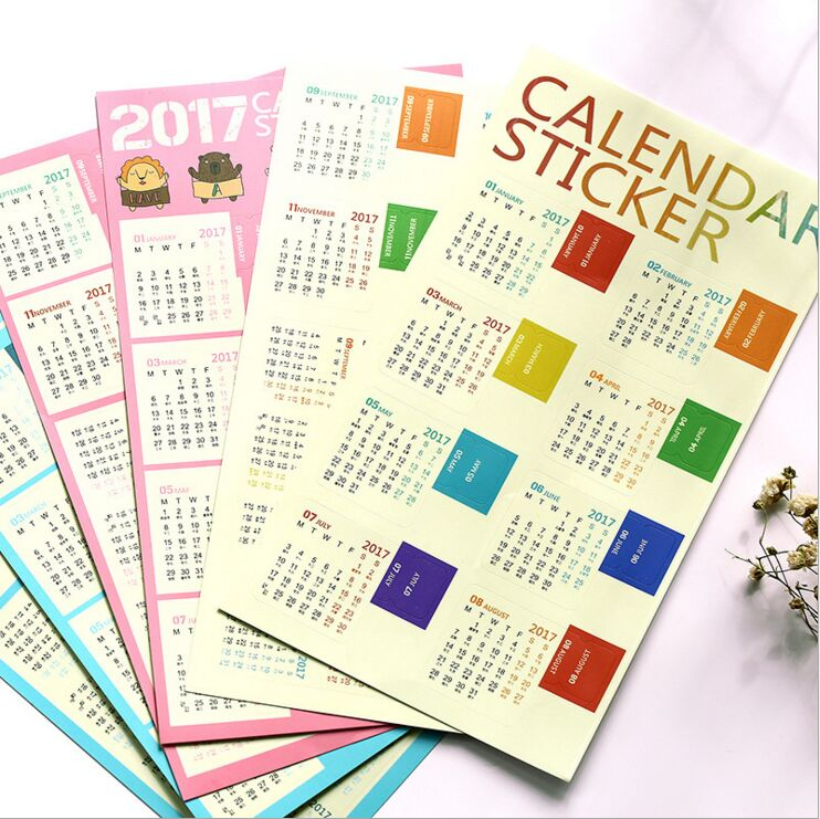 Diy Rainbow Calendar : Popular free mini calendars buy cheap