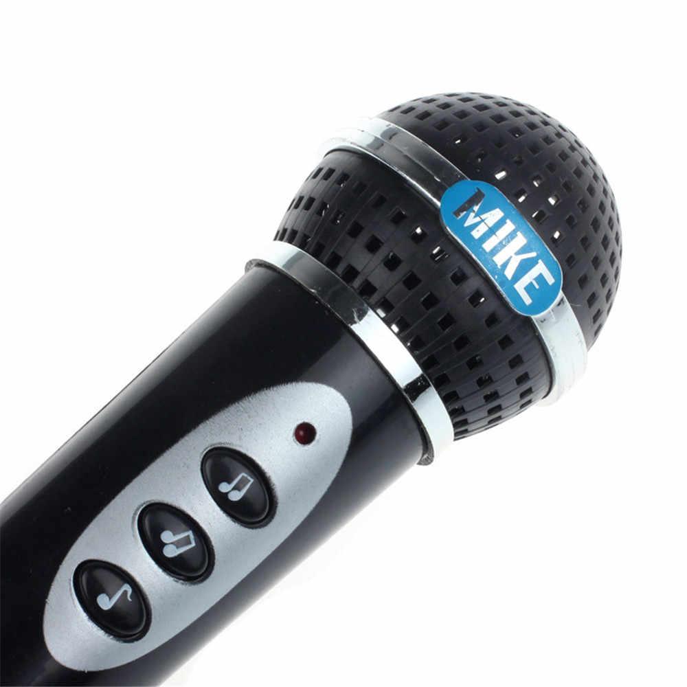 Mainan 2019 Anak-anak Simulasi Mikrofon Anak Hitam Modern Mikrofon MIC Karaoke Bernyanyi Anak Perempuan Lucu Mainan Anak Laki-laki Mainan Musik Hadiah