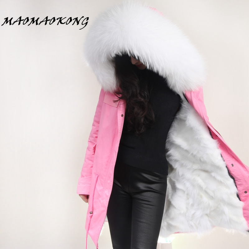 2017 New Women Winter Coats Army Green Jacket Thick Parkas Real Raccoon Fur Collar Hooded Fox Fur Lining Outwear British Style italy brand style mr dark green fox fur lining parka raccoon fur collar hood winter women real fur jacket coats