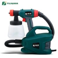 FUJIWARA 220V 800W Electric Spray Gun Split Type HVLP Paint Sprayer For Painting with Adjustable Flow Control 1.8m Hose
