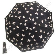 Ex-factory dostosowane OEM wiatroszczelna promocja pełna latające motyle promocja parasol z włókna szklanego parasol reklamowy tanie tanio Parasole Pongee Reklama parasol prezent parasol Metal CU-XLS-B001 Rain Roof Trzy składane parasol Dorosłych Wszystko w 1