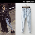 Fashion Slim Plus Size Jeans Woman 2017 New Spring Summer High Waist Jeans For Women Snow Denim Stretch Pencil Pants Female