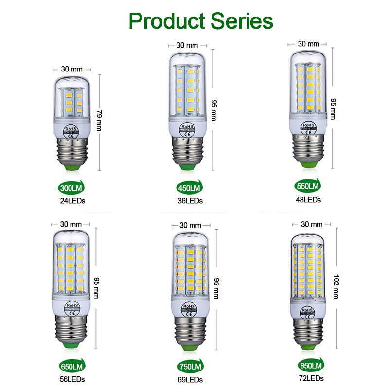 E27 ledランプE14 led電球SMD5730 220 220vトウモロコシ電球 24 36 48 56 69 72ledシャンデリアキャンドルledライトホーム装飾