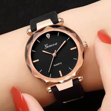Women Bracelet Watches Fashion Women Fashion Womens Ladies Watches Geneva Silica Band Analog Quartz Wrist Watch часы женские(China)