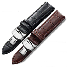 Calf Leather Watch band Watch Strap Butterfly Clasp for Seiko Oris Citizen for omega watchband for all watchbands 14mm-22mm