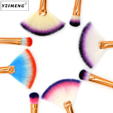 HAICAR Einzelnen make-up pinsel Doppel kopf pinsel Make-Up-tools Make-Up Kleine fan form + lidschatten pinsel Foundation pinsel Nov22(China)
