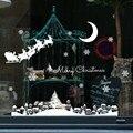 Декоративные наклейки на стену, окно, Рождество, снег, сделай сам, белое стекло, Праздничные наклейки, съемные, Рождество, Новый Год, kerst raamstickers A40 - фото