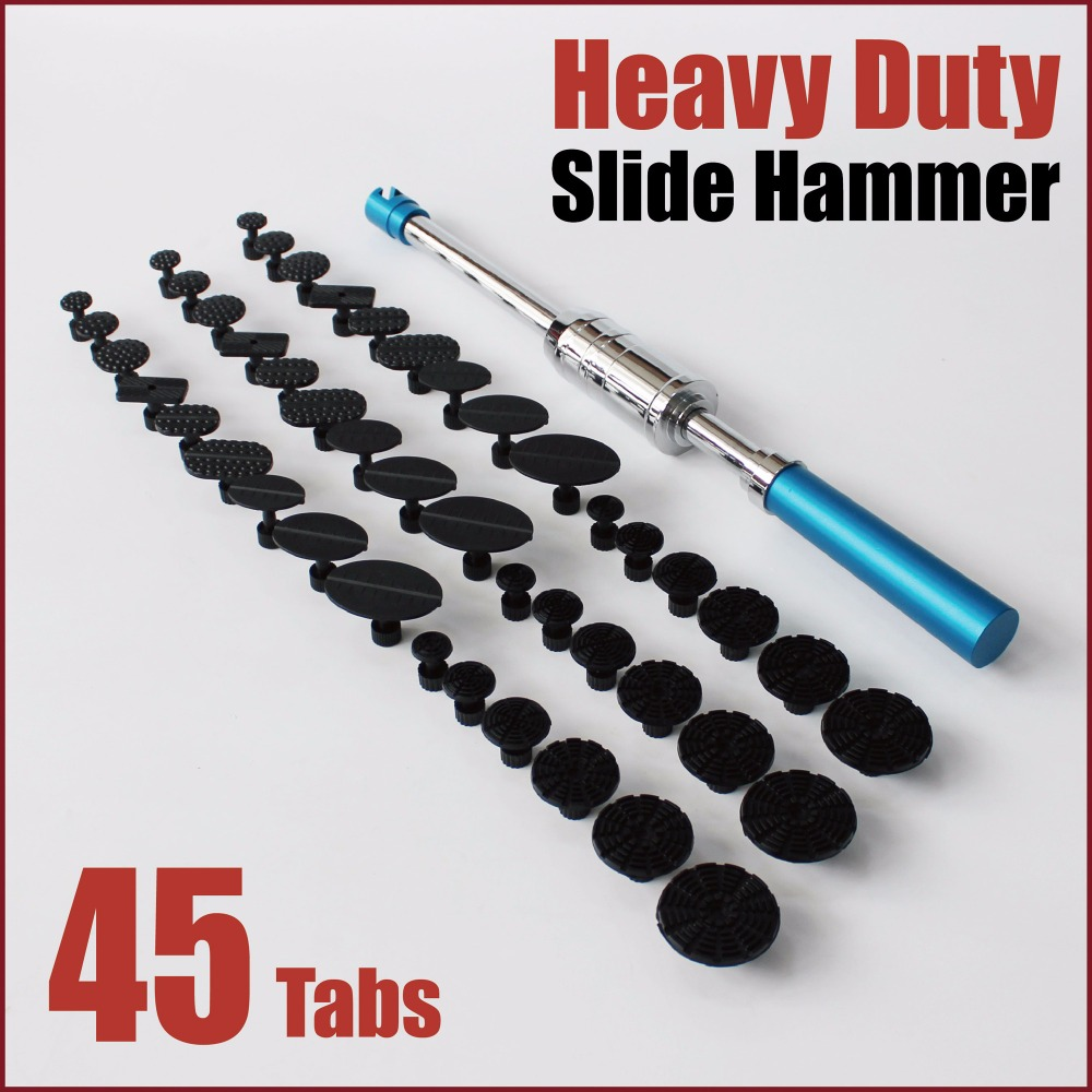 Набор инструментов pdr dent puller slide hammer heavy duty синий стальной клей Тяговая вкладки для ремонта кузова автомобиля ручные инструменты безболезнен...