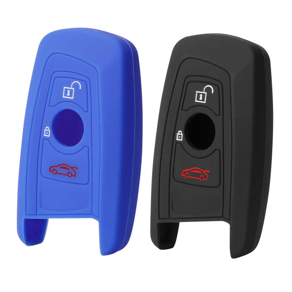 3 przycisk silikonowe etui klucza samochodowego futerał na klucze samochodów silikonowy gumowy klucz dla BMW 1 3 5 7 serii F30 F31 F34 F10 F11 F07 X1 X3 X4 X5 X6
