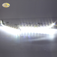 SNCN LED Daytime Running Lights for Honda Crosstour 2012 2013 LED DRL Fog lamp driving lights with yellow turning signal lights