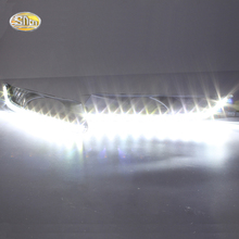 цена на SNCN LED Daytime Running Lights for Honda Crosstour 2012 2013 LED DRL Fog lamp driving lights with yellow turning signal lights