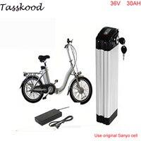 Расколотая рыбка батарея e bike 36 v 30ah полимерная литиевая батарея 36 v 1000 w литий ионный аккумулятор с использованием Sanyo 18650